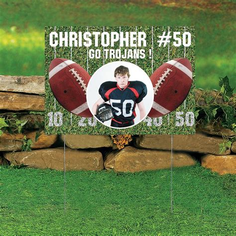 The Gallery For Gt High School Football Yard Signs Football Yard Sign Template