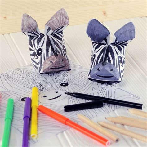 Origami Safari Animals - safari animals origami craft kit by popagami