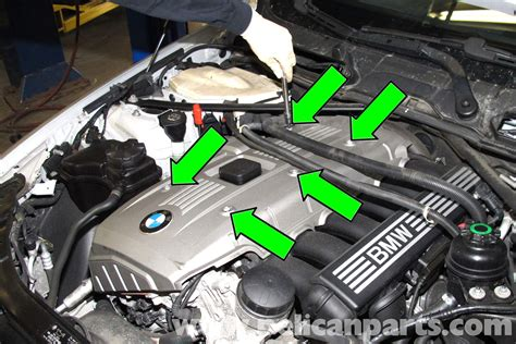 bmw  engine cover removal    pelican