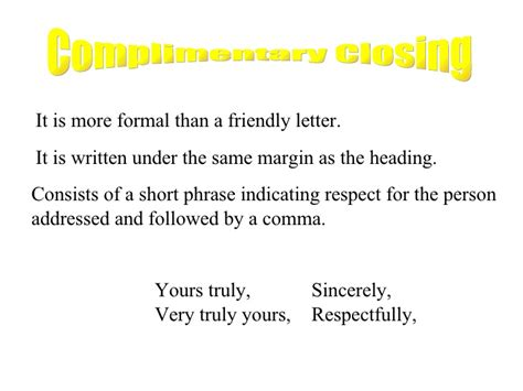 Business Letter Closing Truly Yours Business Letter
