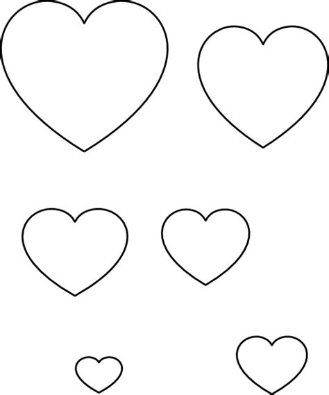 heart stencil clip art at clker com vector clip art