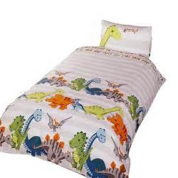 dinosaur single bed duvet set dinosaur childrens boys duvet cover bedding set ebay
