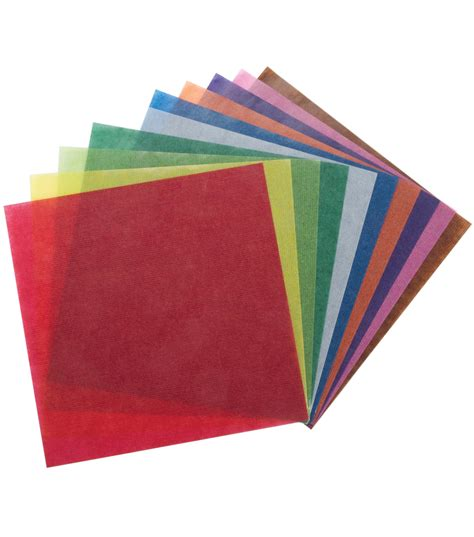 Where Can I Find Origami Paper - folia origami paper 6 quot x6 quot transparent 500 pkg assorted