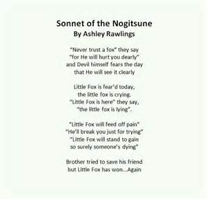 sonnet of a nogitsune wolf