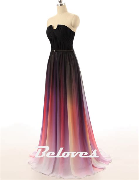 Strapless Maxi Chiffon Dress strapless gradient maxi chiffon prom dress 183 beloves