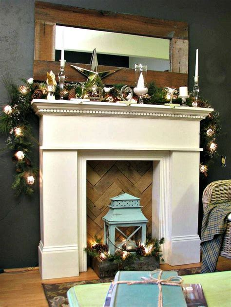 faux fireplace with wood at back love this type of
