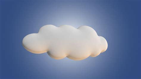 3d cloud cartoon cloud free 3d model game ready obj cgtrader com