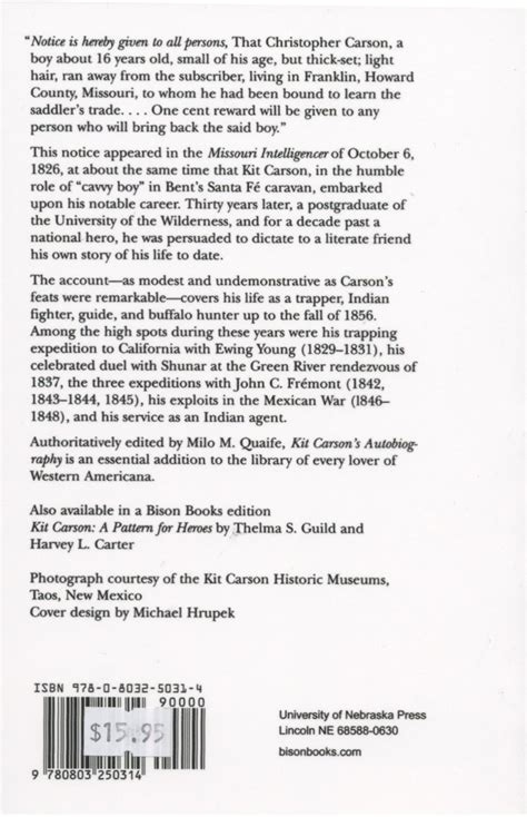 is biography and autobiography same kit carson s autobiography kit carson home and museum