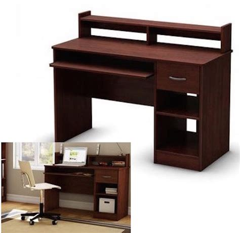 student computer desk cherry wood table home office