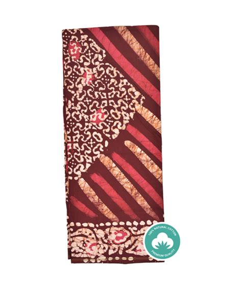 Batik Sarimbit Batik Maroon diagonal stripe batik lungi with maroon color base