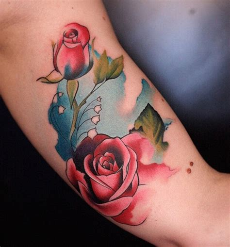 watercolor rose tattoo designs ideas flower sleeve tattoofanblog