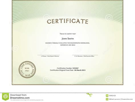 certificate form royalty free stock photo image 30892425