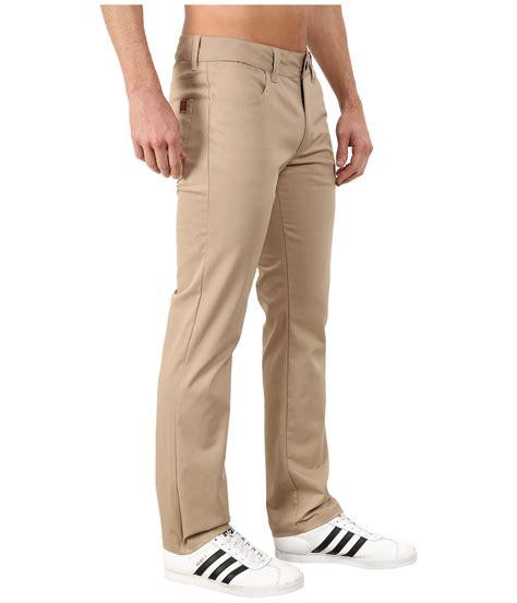 men s distressed stretch twill shorts lyst adidas originals five pocket stretch twill pants in