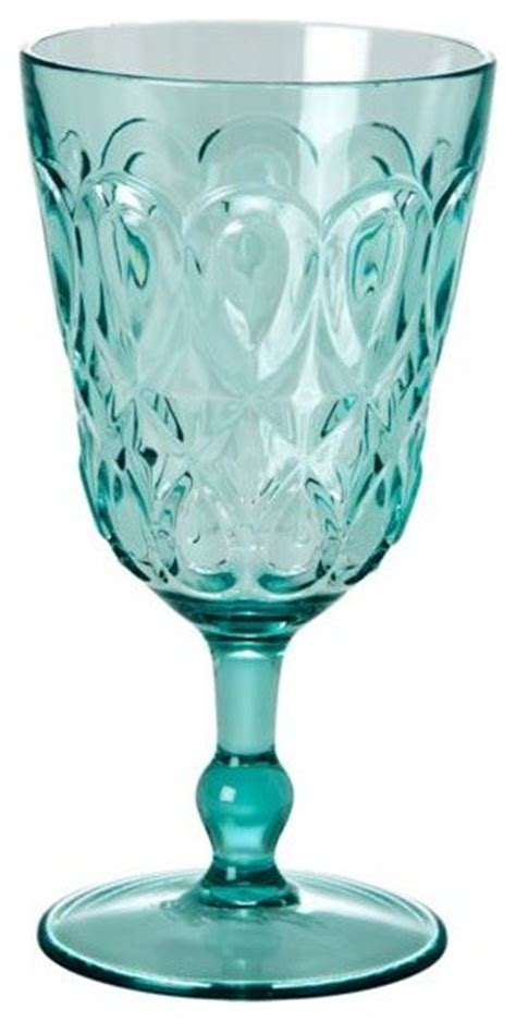 Outdoor Barware by Embossed Acrylic Wine Glass Modern Outdoor Drinkware