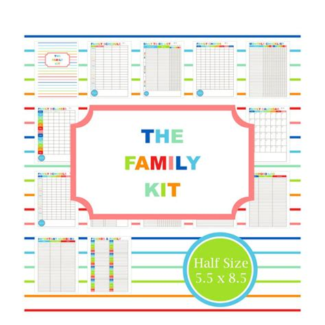 printable family organizer family planner kit printable family calendar to do list