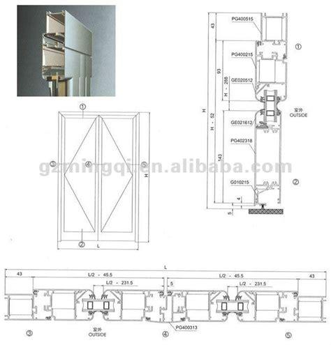 swing door detail energy efficient thermal break profile aluminum bifold