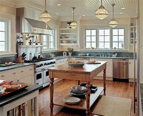 Nautical Themed Lighting Fixture - kitchen wooden counter closed simple mat on wooden floor and tile window between floating shelf