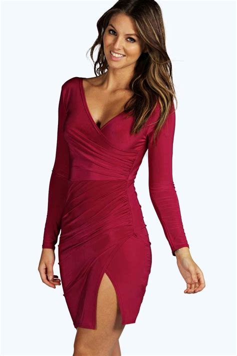 Loise Dress louise slinky wrap dress at boohoo