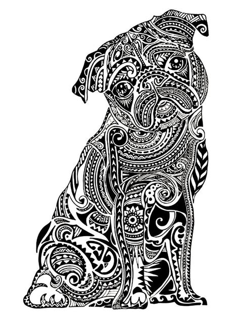 pug coloring pages for adults printable pug coloring pages coloring home