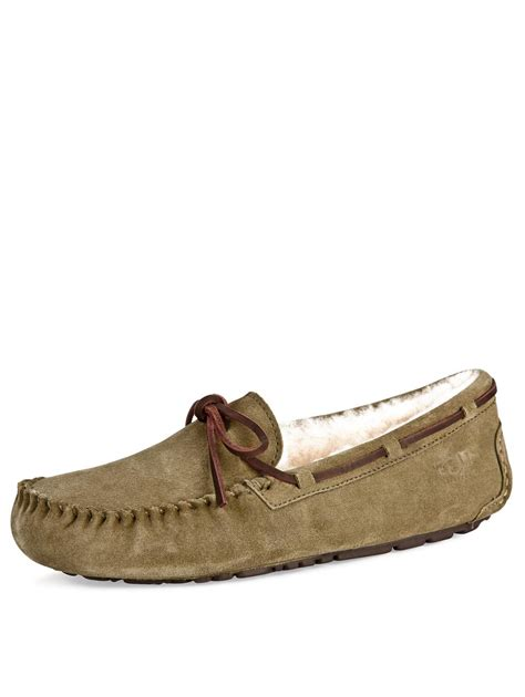 ugg slippers moccasins ugg ugg australia mens moccasin suede slippers in
