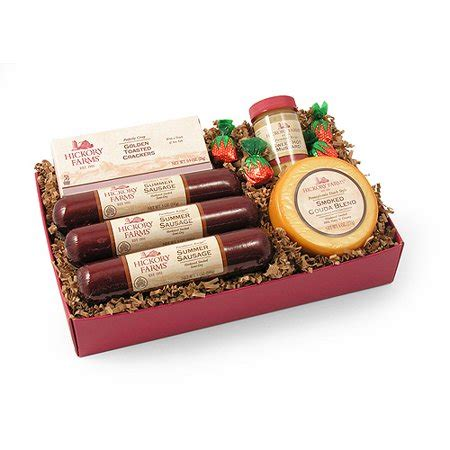 costco hickory farms gift pack hickory farms farmhouse sausage cheese collection 6 gift set walmart