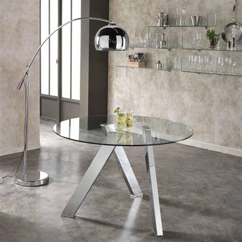 tavolo tondo vetro tavolo da pranzo tondo con top in vetro adamo design moderno
