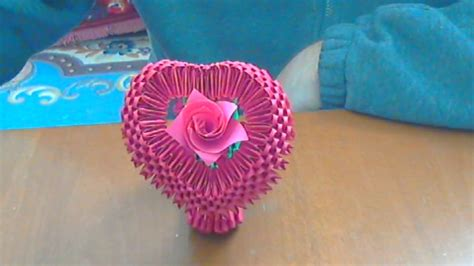 3d Hearts Origami - 3d origami www pixshark images galleries