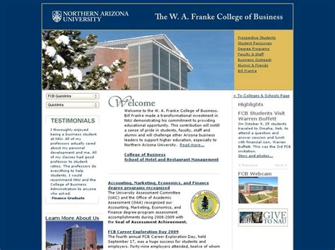 Of Arizona Mba Pay by Northern Arizona The W A Franke College Of