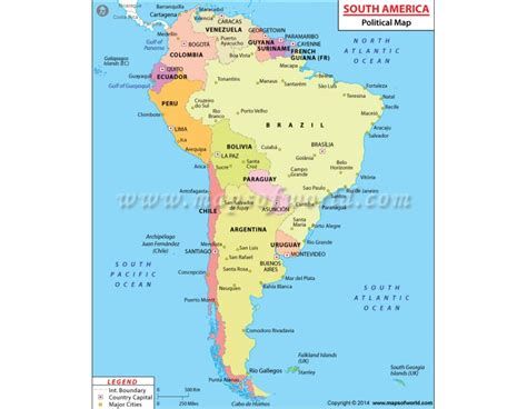 map of south america with latitude and longitude buy south america political map