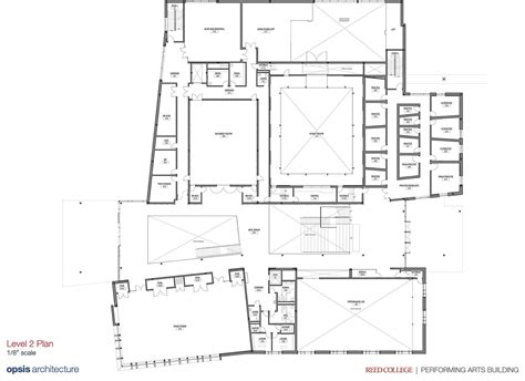 layout html center reed college performing arts building