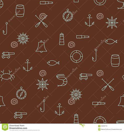 pattern brown line brown seamless pattern background set vector illustration