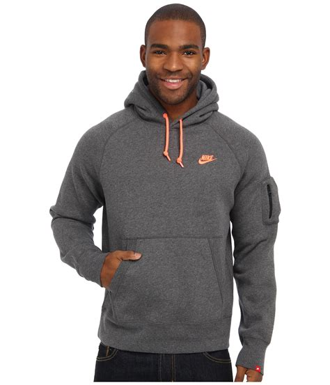 Hoodie Pullover 93 Pcs nike aw77 fleece pullover hoodie in gray for lyst