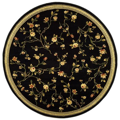 black accent rug safavieh lyndhurst black 8 ft x 8 ft round area rug