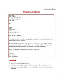 Resignation Letter Word Document by Sle Resignation Letter 18 Documents In Pdf Word