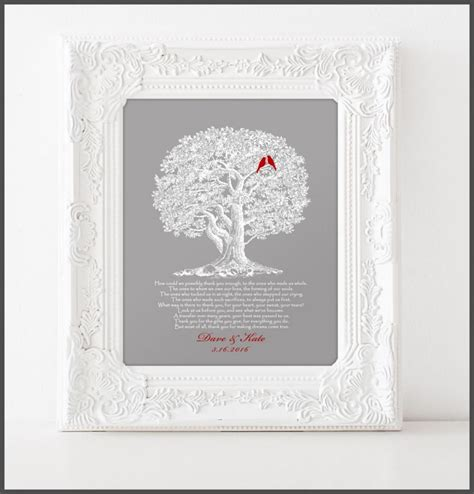 Wedding Gift Ideas For And In by Wedding Gift For Parents From And Groom Thank You