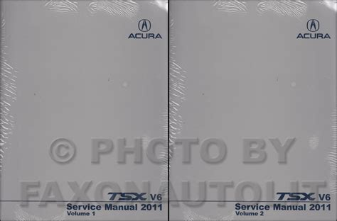 2004 2008 acura tsx factory service manual original shop repair factory repair manuals 2011 acura tsx v6 repair shop manual original 2 volume set