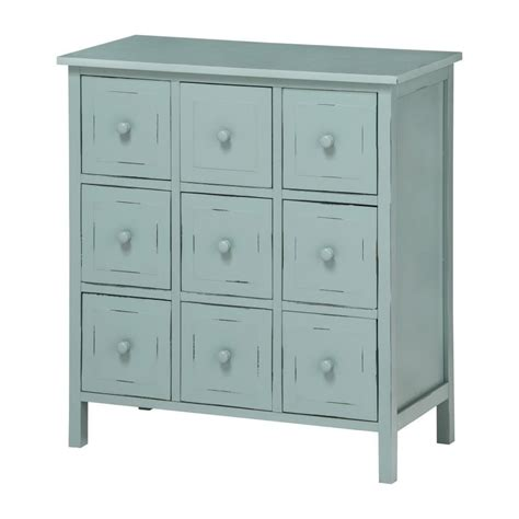 buy shabby chic blue grey painted chest of drawers from