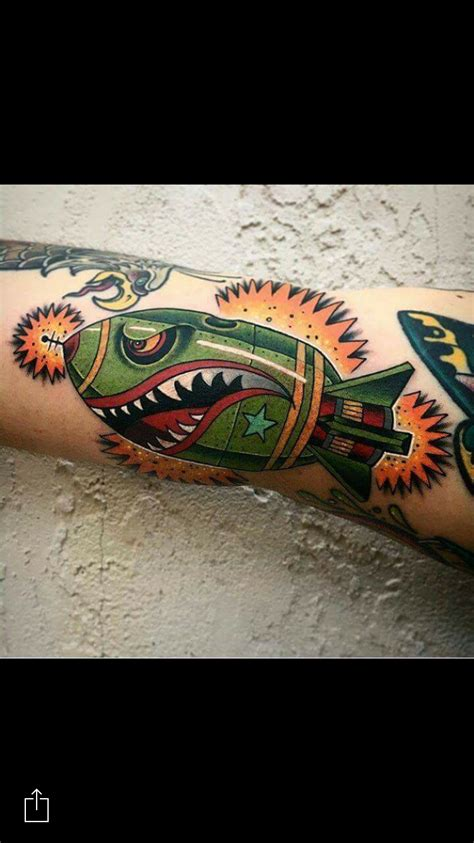 traditional shark bomb tattoo www pixshark com images