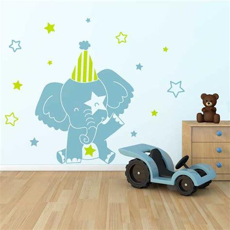 sticker chambre bebe garcon sticker mural quot el 233 phant quot motif b 233 b 233 fille pour chambre