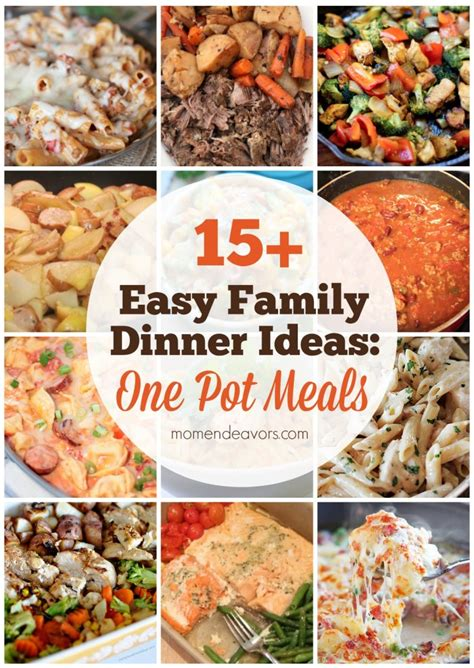 15 easy one pot family dinners