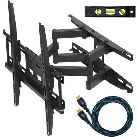swing out tv mounting bracket cheetah mounts 20 quot 55 quot articulating lcd tv wall mount
