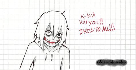 imagenes de jeff the killer para dibujar a lapiz facil jeff the killer by valentinachibi chan on deviantart