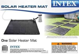 3 intex solar mat above ground swimming pool water heater