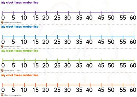 printable number line to 60 38 best images about math elapsed time on pinterest 3rd