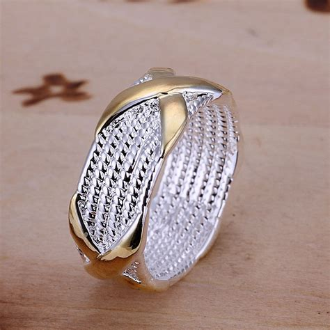 wholesale womens ring fashion jewelry silver color size 6
