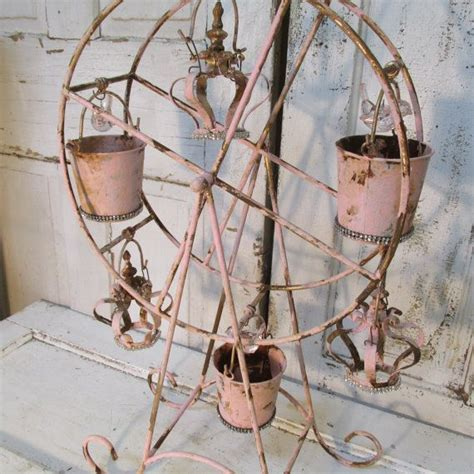 large decorative metal crown painted shimmer by buy ferris wheel large metal hand painted pink rusty