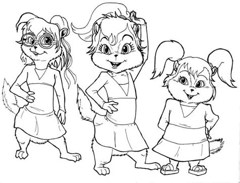 Free Coloring Pages Of Alvin Chipettes Chipettes Coloring Pages