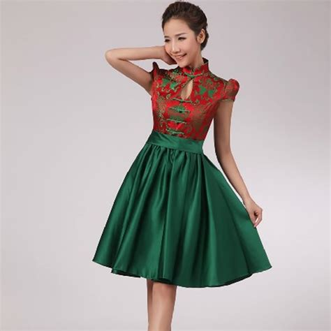 Dress Cheongsam Style 2016 fashion wedding qipao green cheongsam
