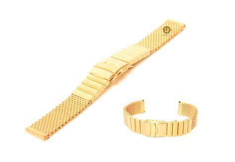 mailänder kuchen uhrenarmband 24mm gold mail 195 164 nder stahl matt