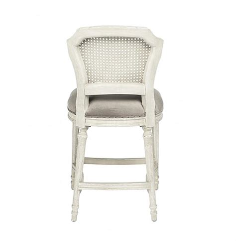 White Or Gray Stool by Camilla Country White Grey Velvet Counter Stool